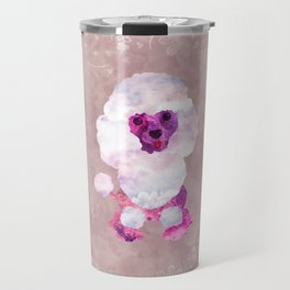 Watercolor Poodle Puppy Digital Art Travel Mug