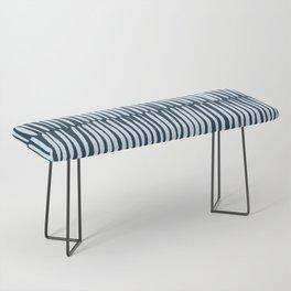 Inspired by Nature | Organic Line Texture Dark Blue Elegant Minimal Simple Bench
