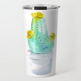 Watercolour Cactus no 2 Travel Mug