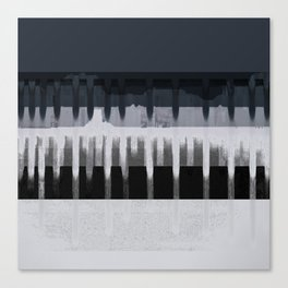 White Wash, Dark Alleys, Blue Wharf Canvas Print