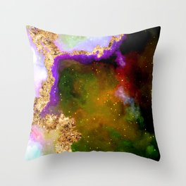 100 Starry Nebulas in Space 016 (Portrait) Throw Pillow