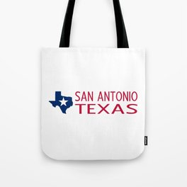 Texas: San Antonio (State Shape & Star) Tote Bag