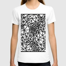 Glass Jewerly in white T-shirt