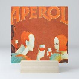 Aperol 'Salute!' Wine and Wine Alcohol Aperitif Vintage Advertisement Poster Mini Art Print