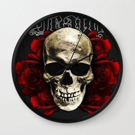 Death Skull Wall Clock