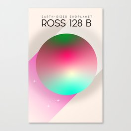 Ross 128 b Exoplanet space art Canvas Print