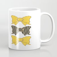 bows Mugs featuring Sunshine Bows  by Ambers Illustration