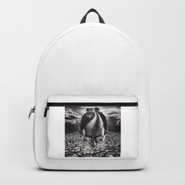 Inhabited Head Grayscale Backpack