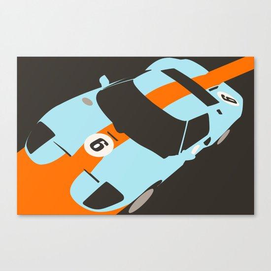 Orange Notch - Ford GT40 Race Car Canvas Print