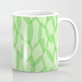 Overlapping Leaves - Light Green Coffee Mug