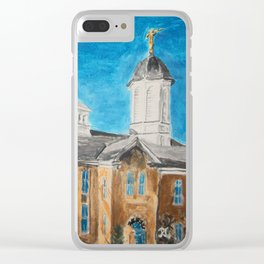 Vernal Utah LDS Temple Clear iPhone Case