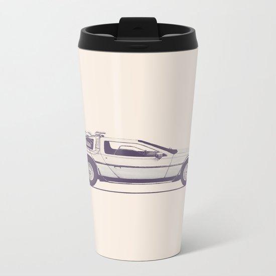 Famous Car #2 - Delorean Metal Travel Mug