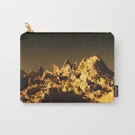 Golden mountain landscape nature illustration Carry-All Pouch