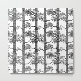 Pine Forest (Black and White) Metal Print