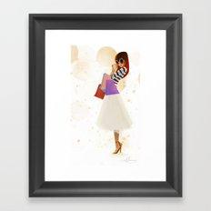 Shopping! Framed Art Print