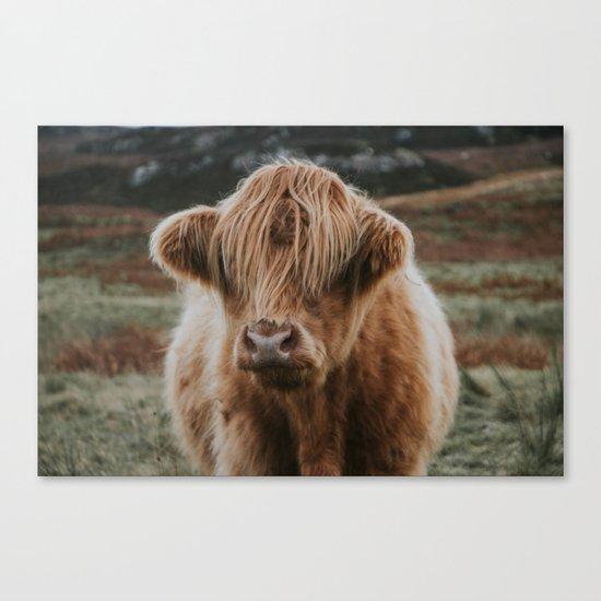 Folk Cow Canvas Print