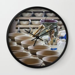 In the Pottery Shop Wall Clock