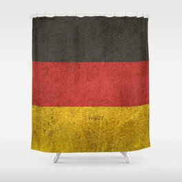 Old and Worn Distressed Vintage Flag of Germany Shower Curtain