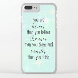 Braver Stronger Smarter Clear iPhone Case