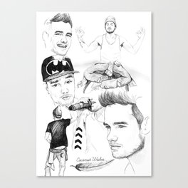 Liam Sketchbook Canvas Print