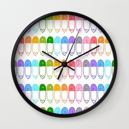 safe with me, rainbow Wall Clock