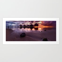 Tahiti sunset Art Print