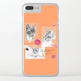 Cats and psychoanalysis Clear iPhone Case