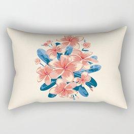 Pink Plumeria. Tropical flowers Rectangular Pillow