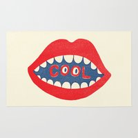 dentist Area & Throw Rugs featuring COOL by Nick Nelson