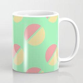 Retro Circle Print (pink and peach) Coffee Mug
