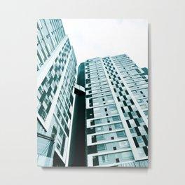 Turquoise Building Metal Print