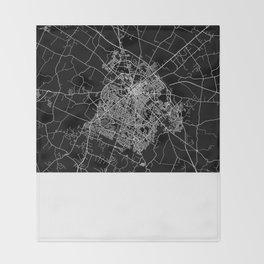 Lexington map Kentucky Throw Blanket