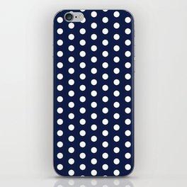 Navy Blue Polka Dots Minimal iPhone Skin