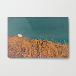 Fields of gold - landscape and chapel Metal Print