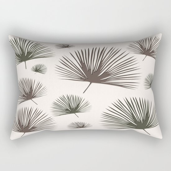 Softer Seasons (sand fan palm) Rectangular Pillow