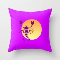 scorpio Throw Pillows featuring Scorpio by Geni