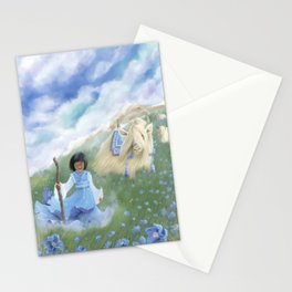Vanda and her Celestial Yaks Stationery Cards