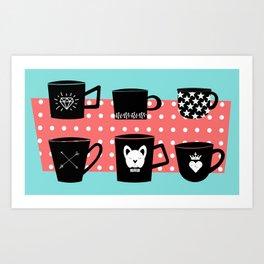 Coffee Mugs Collection Art Print