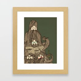 Grumpa Framed Art Print