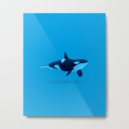 Geometric Killer Whale - Modern Animal Art Metal Print