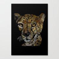 cheetah Canvas Prints featuring cheetah  by JosephMills