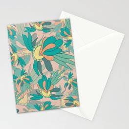 Abstract summer flower composition Stationery Cards