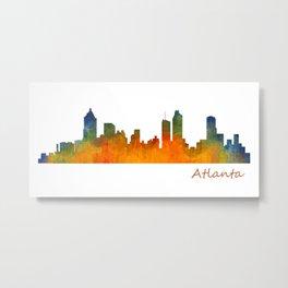Atlanta City Skyline watercolor Hq v1 Metal Print