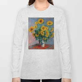 Bouquet of Sunflowers - Claude Monet Long Sleeve T-shirt