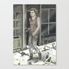 Sad Walk  Canvas Print