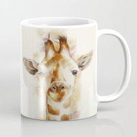 giraffe Mugs featuring giraffe by beart24