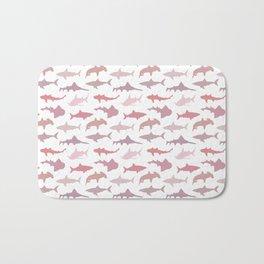 Pink Sharks Bath Mat