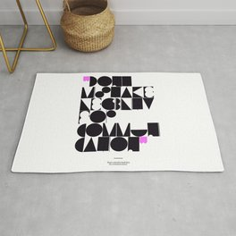 Don't mistake legibility for communication Rug
