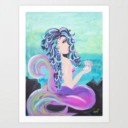 Violet's Pearl Art Print