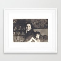mom Framed Art Prints featuring mom by Adary Dary
